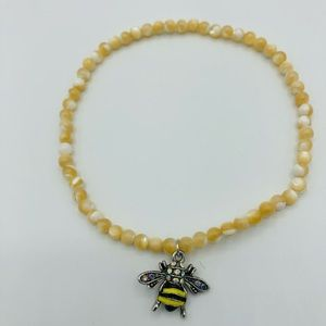"""Anklet Mother of Pearl 9"""" Stretch"""